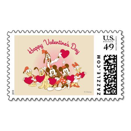 happy valentines day postage