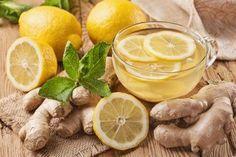 Tee mit Ingwer und Zitrone für die Leber
