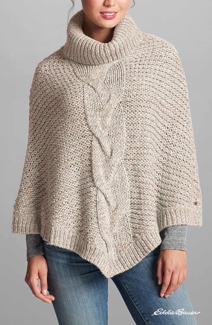 Cable Poncho Sweater | The comfort of your favorite cable ...