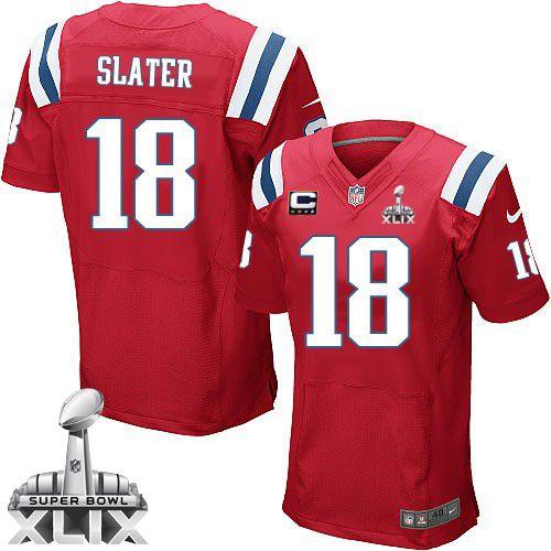 db5415a2935 ... NFL New England Patriots Matthew Slater Mens Elite Alternate Red 18  Super Bowl XLIX Jersey ...