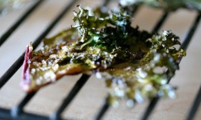Crispy Crunchy Kale Chips -Also great with Gluten Free Soy Sauce!