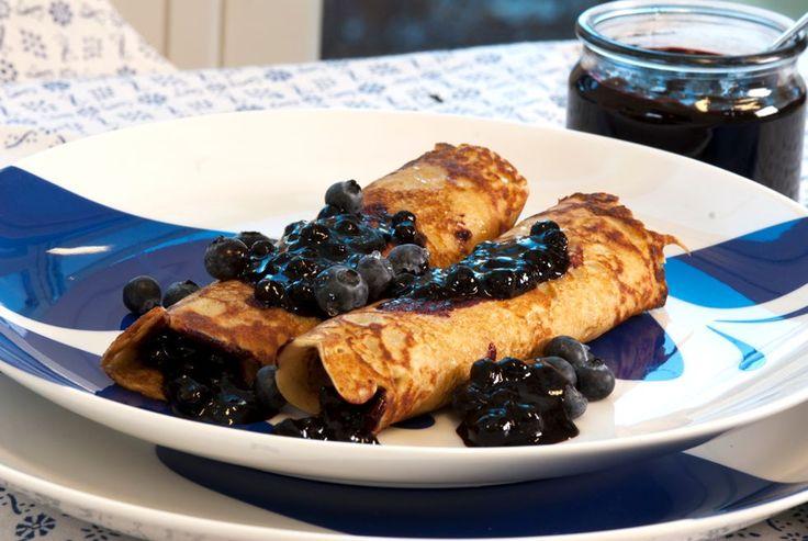 blåbærpannekaker