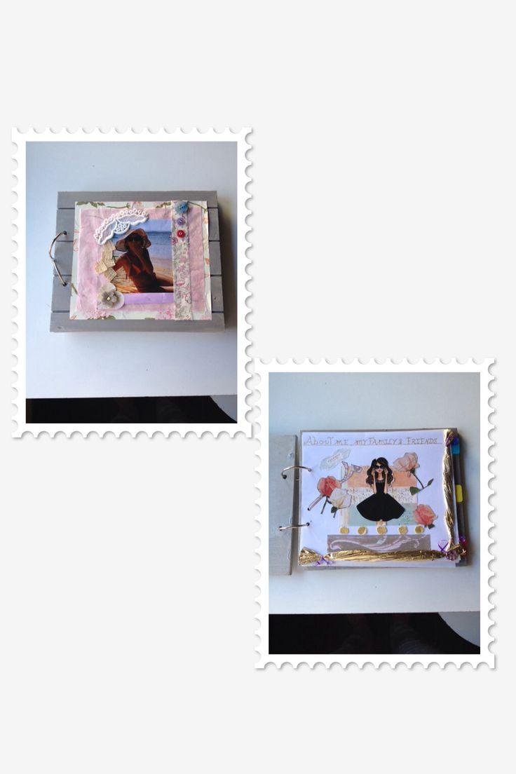 A wooden album to store pics, memories, recipes, notes... Scrapbooking!