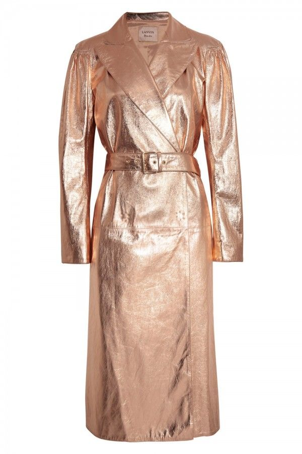 Lanvin Metallic Textured Leather Trench Coat, £29.95