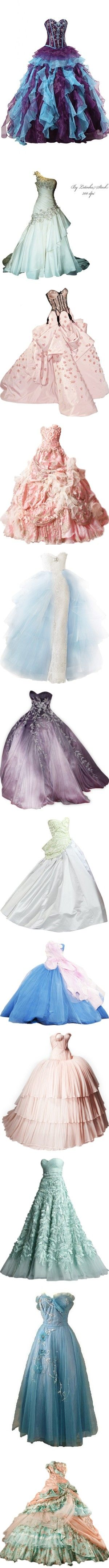 *-* Gorgeous Gowns *-* by blackseagirl on Polyvore featuring dresses, gowns…