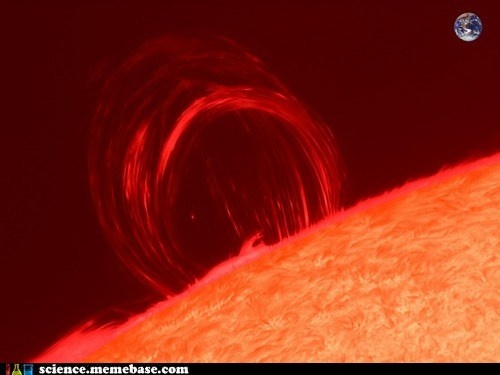 Astrophotographer JP Brahic captured this photo from France on July 19, 2012. A solar loop, also known as a coronal loop, occurs when a magnetic flux is fixed at both ends of the circle. These large, unstable loops can arise from solar eruptions and are often seen near sunspots.: Jp Brahic, Gigantic Plasma, Astrophotographer Jp, Solar Loop, 2012, Brahic Captured, France, Plasma Loop, July 19