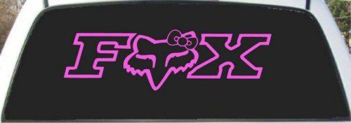 Fox Racing Ladies Pink Custom Made Window Decal Sticker 9 X 24 on Wanelo want this!!!