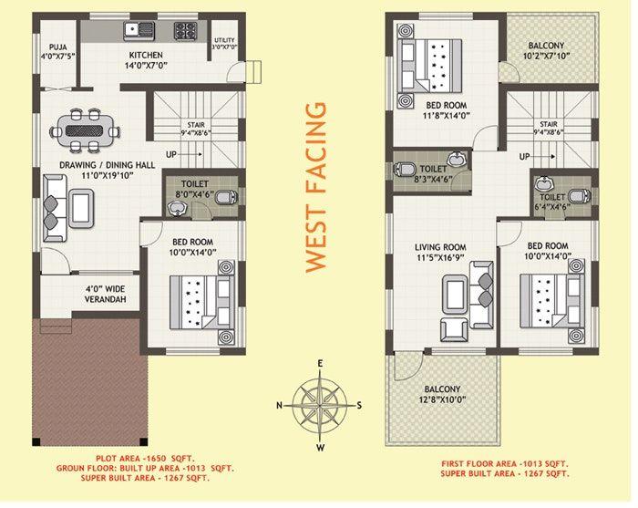 west facing house plans per vastu 5 face floor plan as