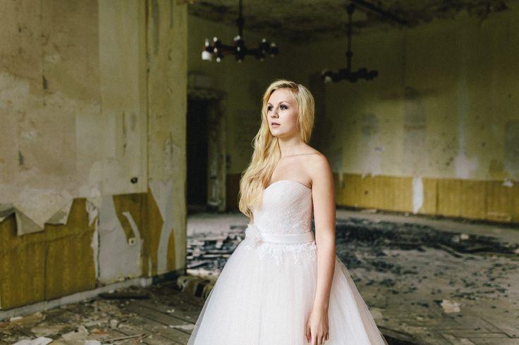 Dieses zarte #rosane #Brautkleid. Foto: Ben Kruse