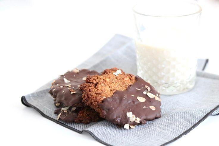 Krokante granenkoeken met chocolade