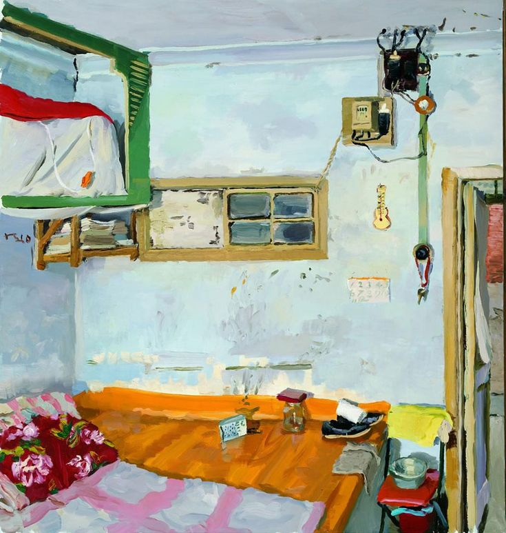 Liu-Xiaodong-The-House-Where-I-grew-up-2010-oil-on-canvas-150x400cm.jpg (974×1024)