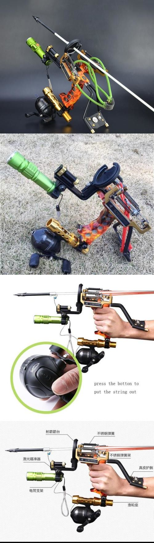 Slingshots 117141: Archery Arrow Rest Slingbow Fishing Reel Slingshot Hunting Fish Catapult Outdoor -> BUY IT NOW ONLY: $82.88 on eBay!