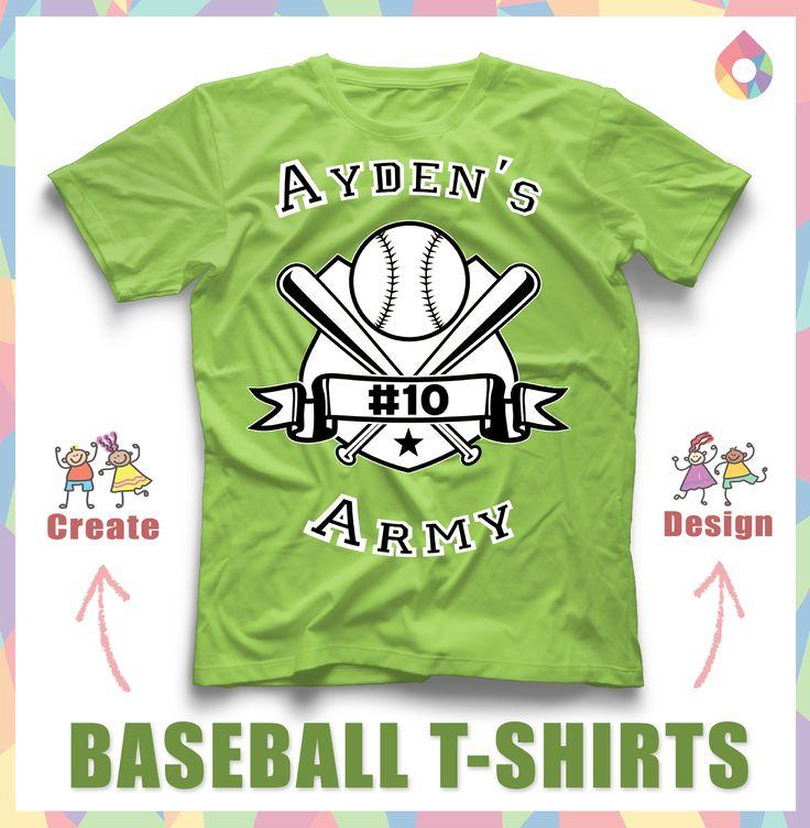 create custom baseball t shirt for your baseball team select a baseball design template
