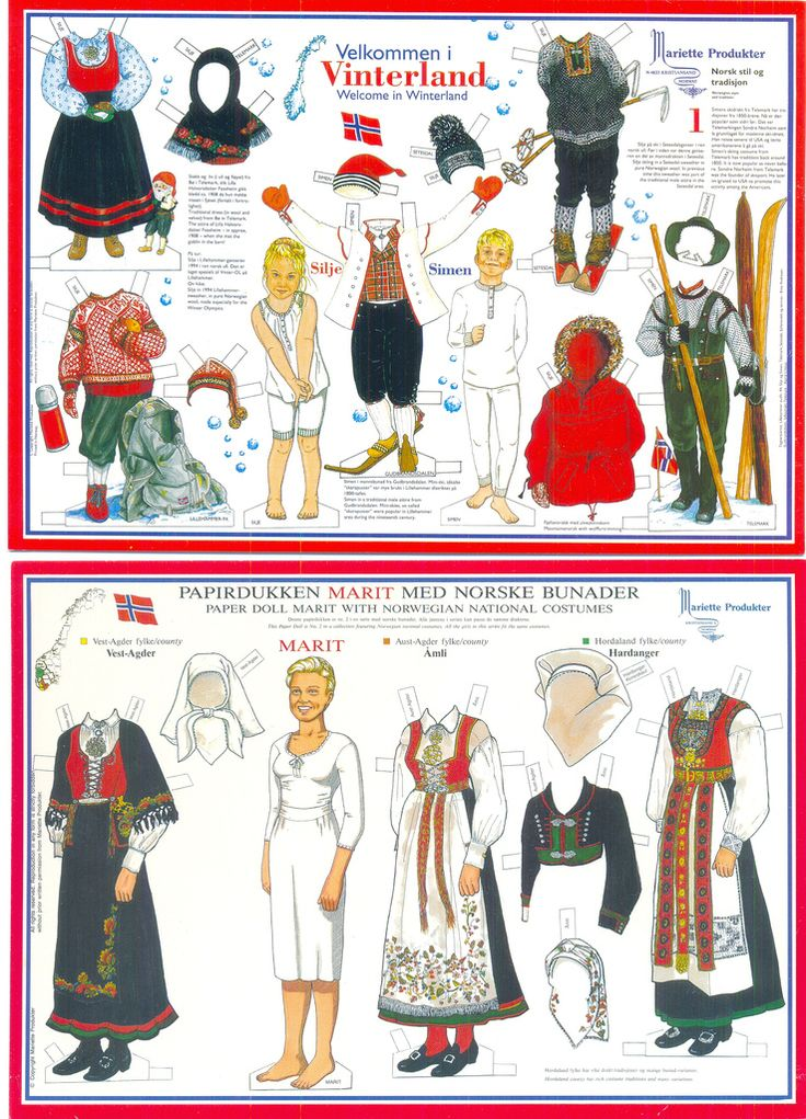 All sizes | Paper doll Silje&Simen and Marit no.2 | Flickr - Photo Sharing!