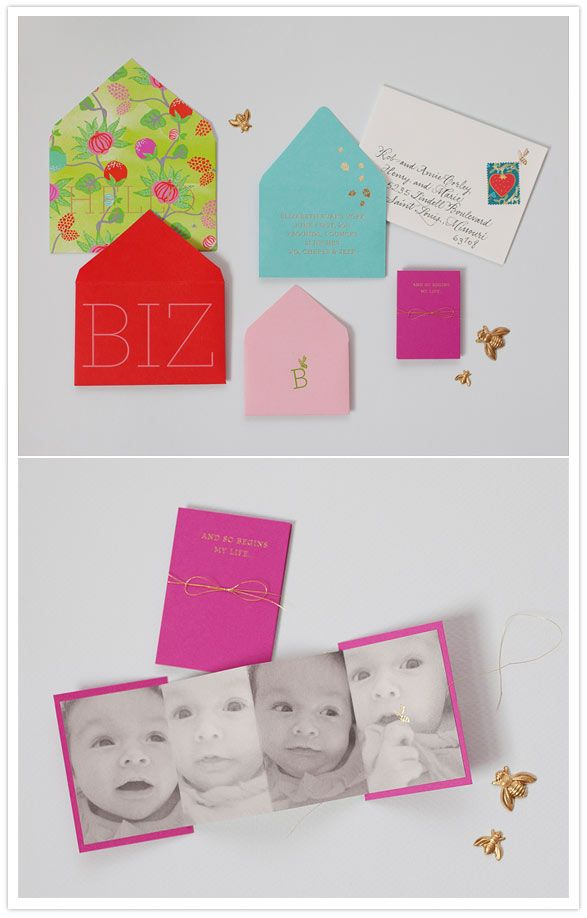 Colourful Baby annoucement