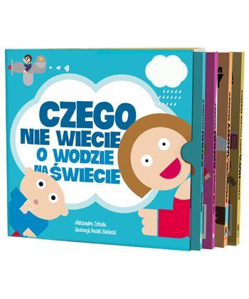 """Zestaw książek dla dzieci """"Czego nie wiecie o wodzie na świecie?"""" 4-6 Polska Akcja Humanitarna"""