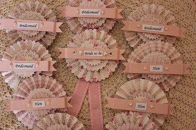 pale pink vintage hen badges
