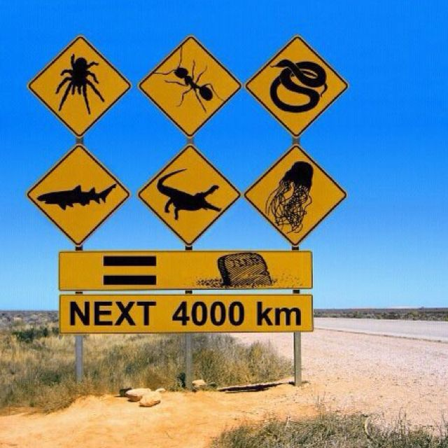 Australia has some humor. Its dry, Just like most of its climate! #InspiredTraveller #travel