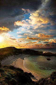 Sunset over Rottnest Island, Western Australia.