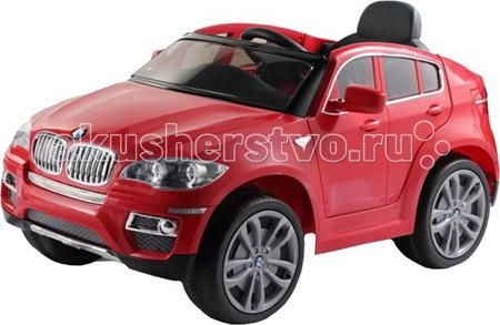 Barty BMW X6  — 16900р. ----------------------------------------  В электромобиле BMW-X6 имеется одно посадочное место. Двери мобиля открываются. Данная серия BMW рассчитана на нагрузку до 30 кг. Следовательно, маленьким водителем машины могут быть дети в возрасте не старше 8 лет. Две скорости назад и вперёд (3-5 км/ч), отличная маневренность.  Мультифункциональные тумблеры, кнопки, рычаги внутри салона привлекут начинающего водителя, ведь их можно крутить, нажимать, передвигать и т.д. При…