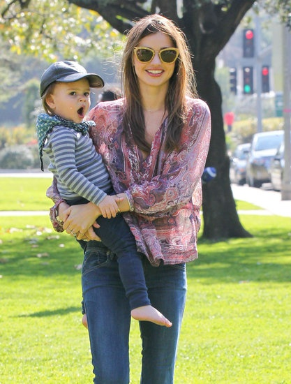Miranda Kerr took Flynn to an LA park   More pictures from the Kerr-Bloom family weekend
