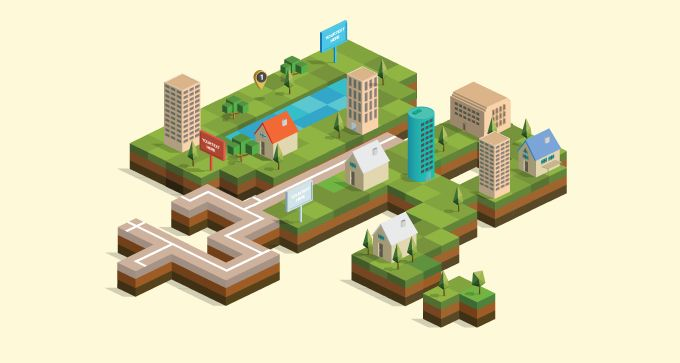 Isometric City Map Builder Vector Ai EPS 10 Download