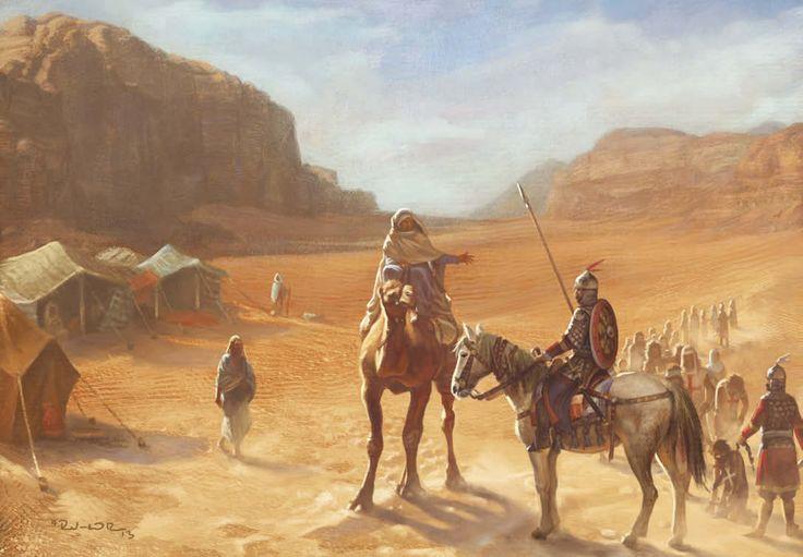 """Prisioneros cristianos de Saladino ilustración a media página para la revista """"Medieval Warfare"""""""