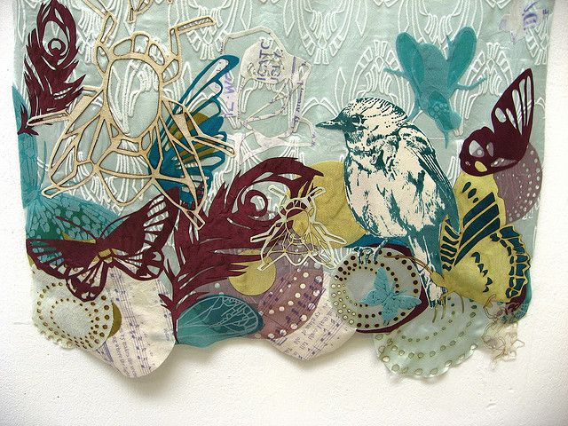 Printed Textiles Degree Show, Loughborough University, Leicestershire by Geraldine Curtis, via Flickr