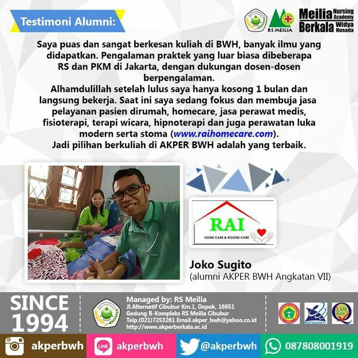 Testimoni #karir #profesi #perawat #akademi #keperawatan #kesehatan #akperberkala #akperbwh #akper #penerimaan #pendaftaran #kampus #kuliah #mahasiswa #perguruantinggi #pts #jalurmandiri #rsmeilia #cibubur #depok #cileungsi #bekasi #bogor #tangerang #jakarta #indonesia