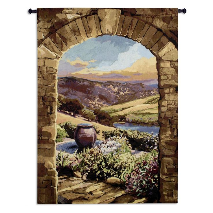 Fine Art Tapestries Tuscan Afternoon Wall Tapestry - 6344-WH
