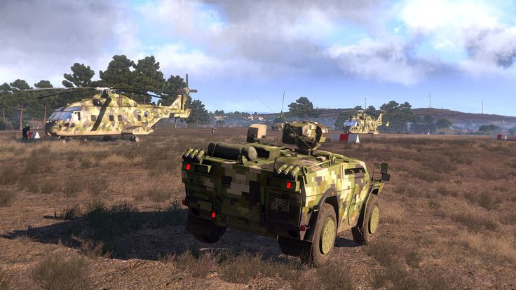 Armoured vehicle and helicopters (Arma 3)