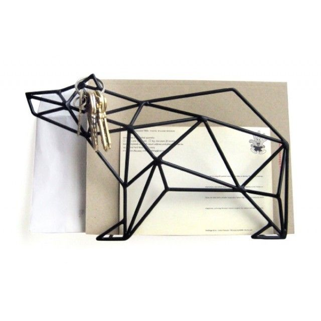 Baked enamel on steel elephant or bear wall mount or desktop organizer is the creative and classy way of storing files with elegance and ease. Functional space saving design.