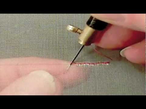 utube video on tambour beading by Robert Haven. The first part of this had echoing on the audio, but that doesn't continue and it's worth seeing.