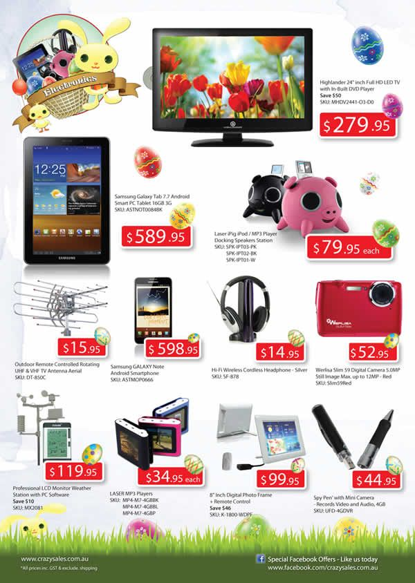 "Page 4 Easter Catalogue  ""Electronics"""