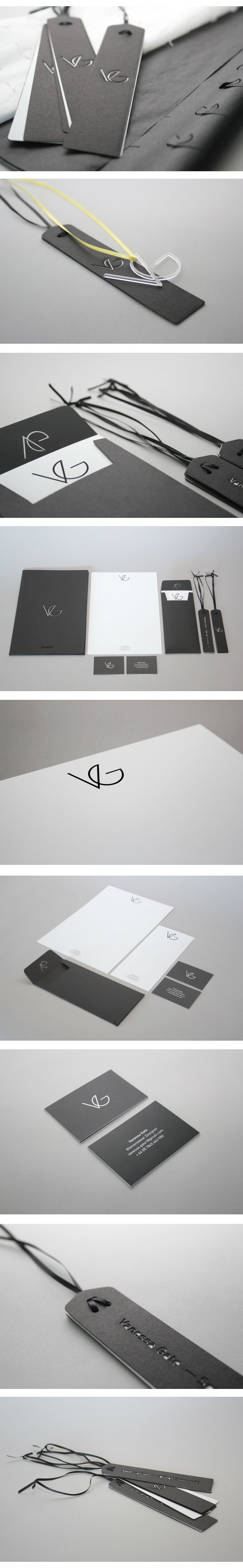 Vanessa Gate. Womenswear Designer Brand Identity by Jonathan Finch via Behance | #stationary #corporate #design #corporatedesign #identity #branding #marketing < repinned by www.BlickeDeeler.de | Visit our website: www.blickedeeler.de/leistungen/corporate-design