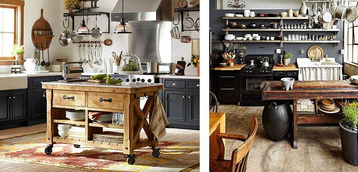 Islas r sticas de madera car cter en tu cocina mesas for Ideas para cocinas pequenas rusticas