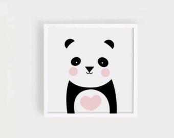 Poster bebe schattige Panda INSTANT DOWNLOAD van ARTsopoomc op Etsy