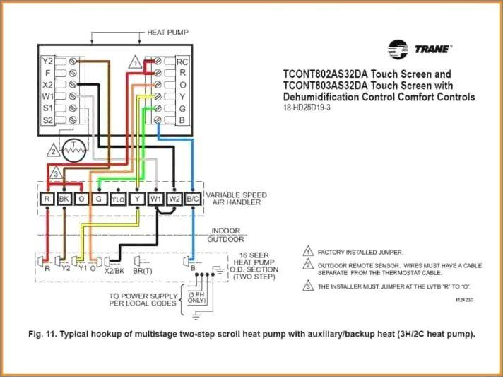 Goodman Heat Pump Thermostat Wiring Diagram York Rheem Honeywell Trane Baysens019b Thermostat Thermostat Wiring Carrier Heat Pump Trane Heat Pump