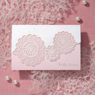 Только Simei корейские розовые приглашения свадебные приглашения свадебные приглашения, отпечатанные на фотопечатью на заказ полый творческо ...