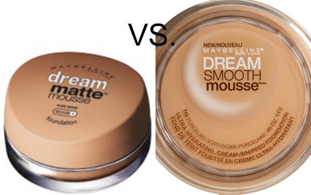 I have used both of these Maybelline mousse foundations, and really liked them.  Use the MATTE if you tend to have oily skin, and the Smooth Mousse if you have dry/combination skin. As always, make sure you chose the right color. Test a patch by your ear and along your jaw line.