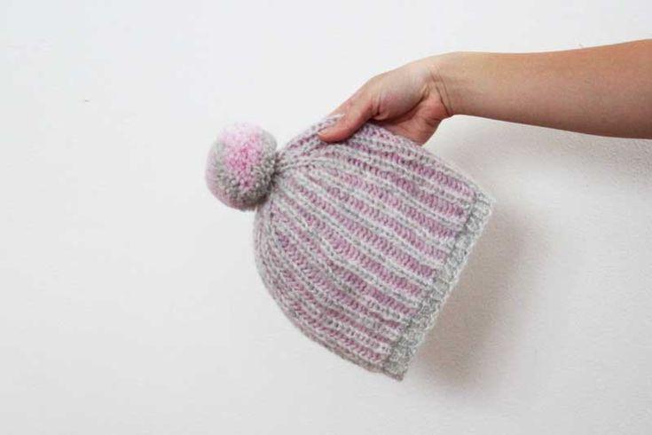 Návod jak uplést teplou dámskou čepici chytovým vzorem (brioche) / Knittign pattern how to knit a brioche womens hat.