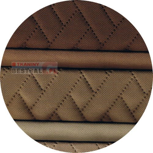 Tkanina pikowana podszyta owatą dzięki czemu jest miękka i wypukła. Idealna na obicie mebli tapicerowanych, poduszek, drzwi, ścian itp. Cena za 1mb tkaniny o stałej szerokości 140cm. Cena: 29zł.