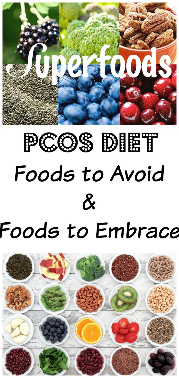 If you suffer PCOS, nutrition is very important in reducing the side effects and symptoms of PCOS!  Click through to see foods to embrace and foods to avoid! #pcos #food #nutrition #fitness #health