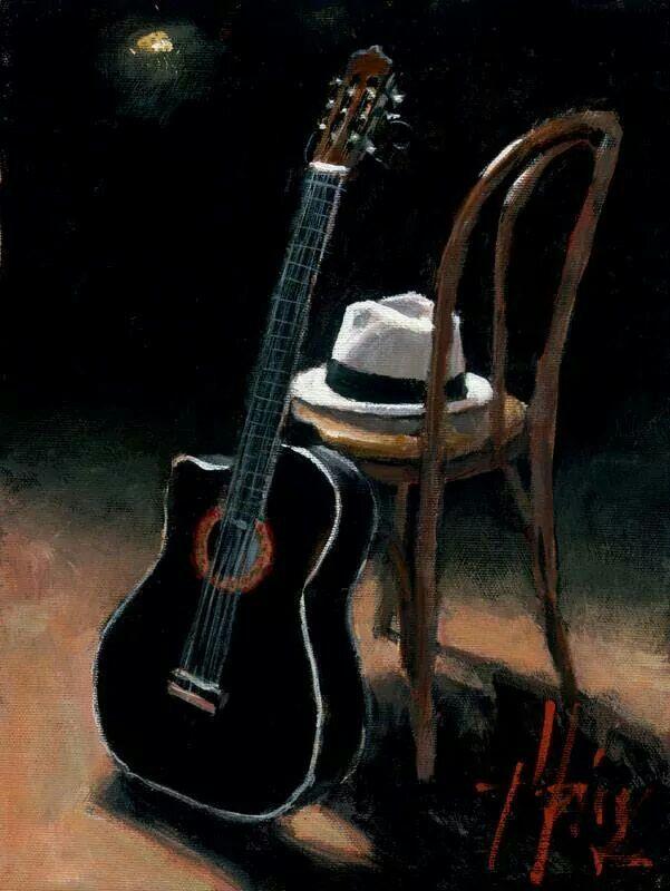 Still Life with Guitar, Fabian Perez