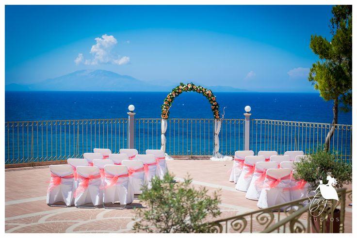 Summery wedding arch!