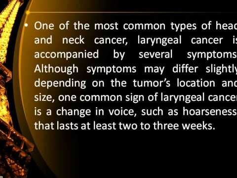 the symptoms and treatment of the larynx cancer Symptoms of larynx cancer including 11 medical symptoms and signs of larynx cancer, alternative diagnoses, misdiagnosis, and correct diagnosis for larynx cancer signs.