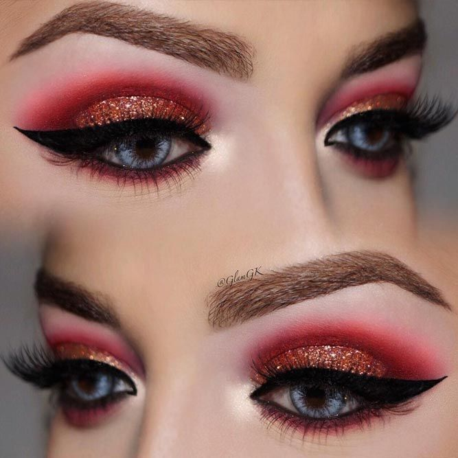 Sexy eye makeup is the dream of many, but you should be careful when playing with fire. Now that we warned you, you can try mastering this art!