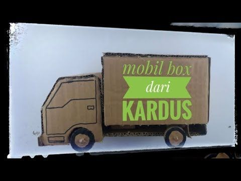 How To Make A Rc Truck Form Cardboard Diy Radio Garbage Truck Youtube Mobil Mainan Truk Mobil