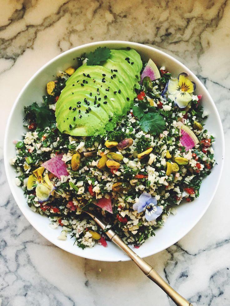 The best Herbacious Cauliflower Tabboulah ever!