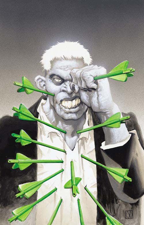 Green Arrow vs Solomon Grundy by Matt Wagner